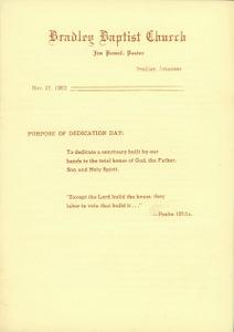 BBC Dedication Program 1963