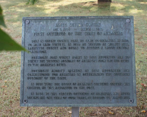 Plaque at Conway Cemetery, 300 pixels