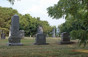 Wide shot of Conway Cemetery, 300 pixels