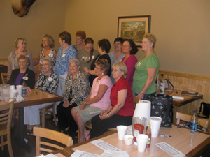 Womens group 1962 reunion 6-27-09
