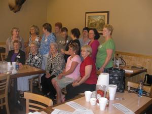 Womens group 1962 reunion 6-27-09